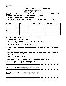 Đề kiểm tra tháng 9 Tiếng việt, Toán Lớp 3 - Năm học 2003-2004