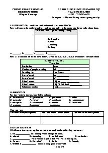 Đề thi giáo viên giỏi cấp huyện Tiếng anh Lớp 9 - Năm học 2013-2014 - Phòng GD&ĐT Sông Lô