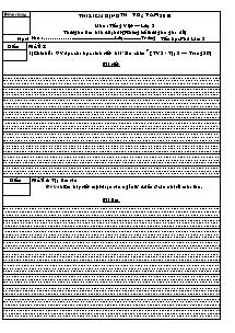 Đề thi kiểm định tháng 3 Tiếng việt Lớp 2 - Năm học 2009-2010 - Trường Tiểu học Phú Lâm 2